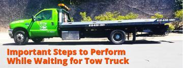 Important Steps to Perform While Waiting for Tow Truck